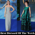 Best Dressed Of The Week - Lily James In Balenciaga & Helena Bonham Carter In Vivienne Westwood Couture