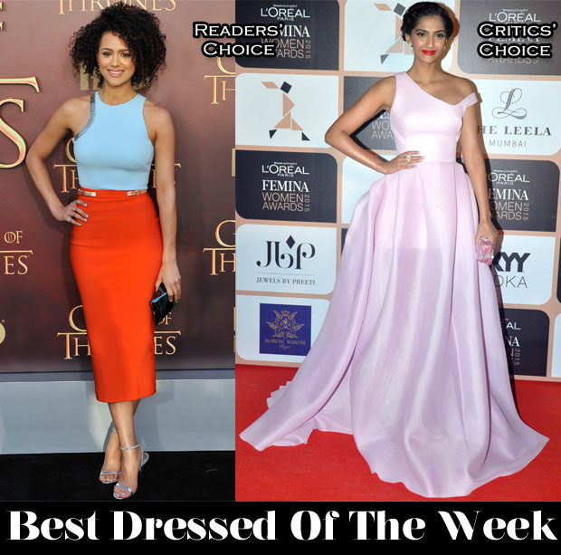 Best Dressed Of The Week - Nathalie Emmanuel In Mugler and Sonam Kapoor In Maticevski