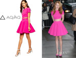 Bella Thorne's AQ/AQ Even Top with Back Key Hole And AQ/AQ Fantasy Bonded Scuba Full Skirt