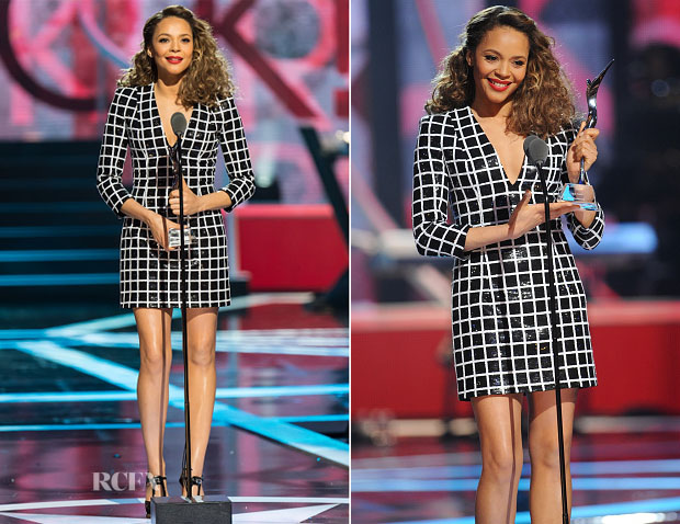 Carmen Ejogo In Balmain - BET's 'Black Girls Rock!'