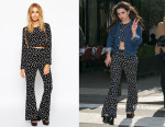 Charli XCX's ASOS Reclaimed Vintage Daisy Print Top & Flared Pants