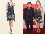 Charlize Theron's Gucci Embroidered Print Dress