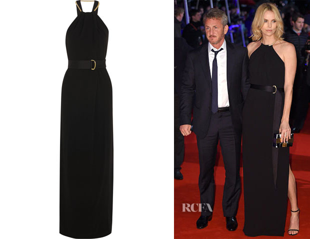 Charlize Theron's Halston Heritage Shirred Neck Gown