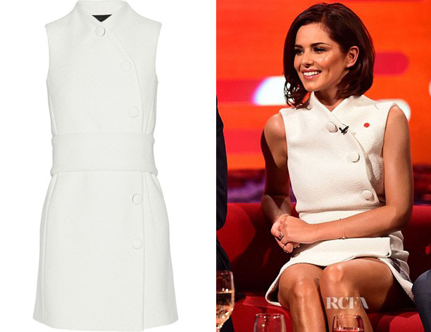 Cheryl Cole's Proenza Schouler Woven mini dress