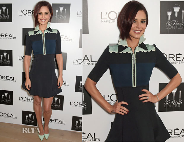Cheryl Fernandez-Versini In Issa - L'Oreal Paris 'The Brush Contest'
