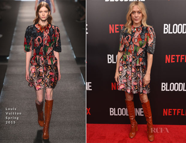 Chloe Sevigny In Louis Vuitton - 'Bloodline' Series Premiere