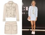 Chloe Sevigny's Coach Studded Denim Jacket & Mini Skirt