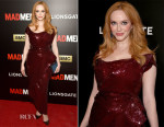 Christina Hendricks In Vivienne Westwood Couture - 'Mad Men' New York Screening
