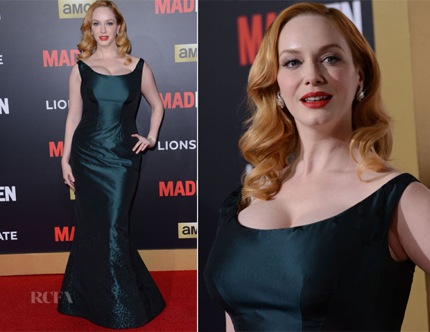 Christina Hendricks In Zac Posen - 'Mad Men' Black & Red Ball 2