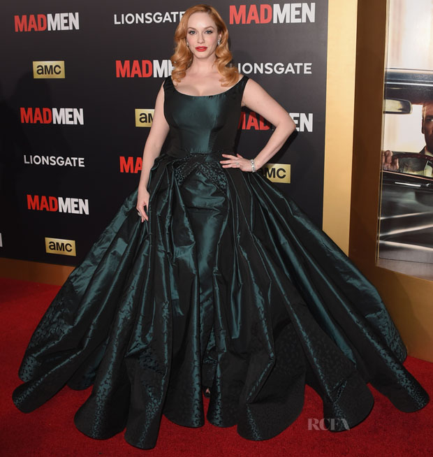 Christina Hendricks In Zac Posen - \'Mad Men\' Black & Red Ball - Red ...
