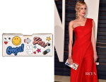 Diane Kruger's Anya Hindmarch Pencil Case Sticker Print Clutch