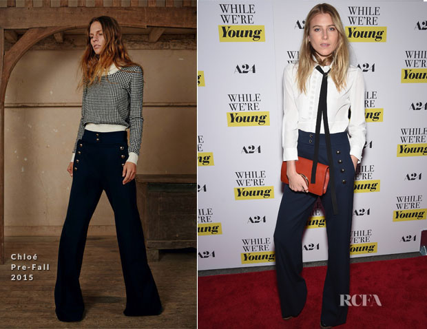 Dree Hemingway In Chloé PF15 - 'While We're Young' New York Premiere