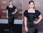 Emilia Clarke In Alexander McQueen -  'Game of Thrones' Season 5 Premiere