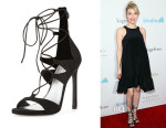 Emma Roberts' Stuart Weitzman Leg Wrap Lace-Up Sandals