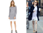 Emma Stone's Clu Too Pleated Sweater Dress