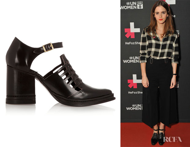 Emma Watson's Purified Nix Cutout Leather Ankle Boots