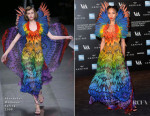 FKA twigs  In Alexander McQueen - Alexander McQueen: Savage Beauty Exhibition Private View