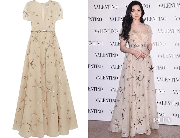 Fan Bingbing S Valentino Sequined Silk Organza Gown