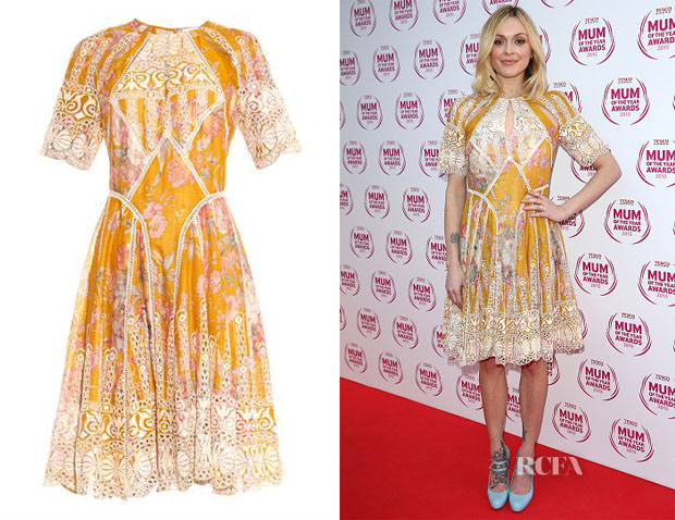 Fearne Cotton's Zimmermann Confetti Scallop Floral-Print Cotton Dress