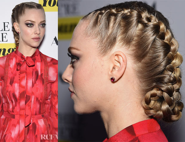 Get The Look  Amanda Seyfried's 'While We're Young' Premiere French Braids