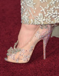 Lily James' Christian Louboutin 'Cinderella' shoes