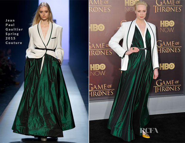 Gwendoline Christie In Jean Paul Gaultier Couture - 'Game of Thrones' Season 5 Premiere
