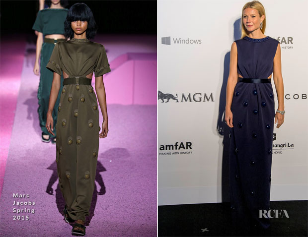 Gwyneth Paltrow In Marc Jacobs - amfAR Hong Kong Gala