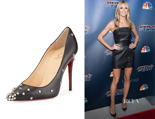 Heidi Klum's Christian Louboutin Degraspike Studded Leather Pumps