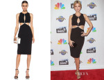 Ivanka Trump's Cushnie et Ochs Power Cutout Viscose-Blend Dress with Pearls