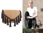 Jaime King's Loeffler Randall 'Lock' Clutch Bag