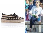 Jaime King's Loeffler Randall  Alfie Espadrille Sneakers