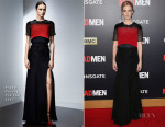 January Jones In Prabal Gurung - 'Mad Men' Black & Red Ball