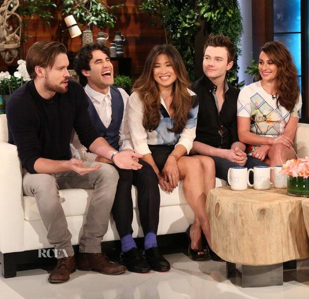 Jenna Ushkowitz In Victoria, Victoria Beckham & Lea Michele In Preen - The Ellen DeGeneres Show