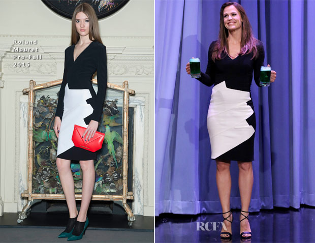 Jennifer Garner In Roland Mouret - The Tonight Show Starring Jimmy Fallon