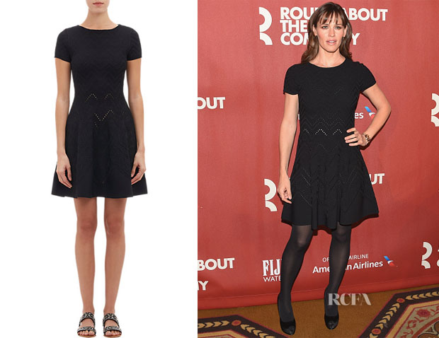 Jennifer Garner's Valentino Compact Jacquard Knit Fit & Flare Dress