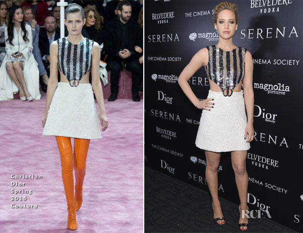 Jennifer Lawrence In Christian Dior Couture - 'Serena' New York Screening