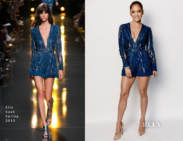 Jennifer Lopez In Elie Saab - 'American Idol' Season 14 Top 10 Revealed