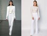 Jennifer Lopez In Misha Collection & Rachel Zoe - American Idol XIV Top 12 Finalists Performance