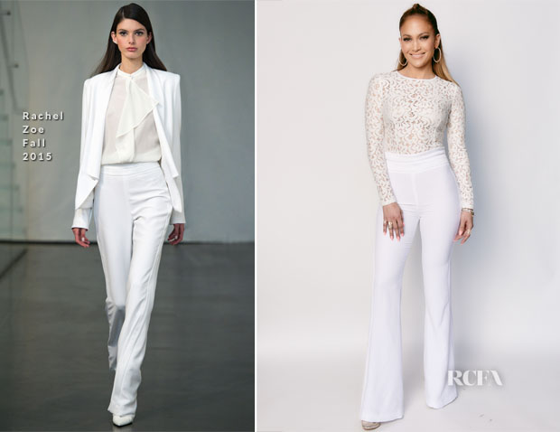 Jennifer Lopez In Misha Collection & Rachel Zoe Fall 2015 - American Idol XIV Top 12 Finalists Performance