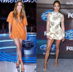 Jennifer Lopez In Valentino & Marchesa Notte - American Idol XIV Top 12 Finalists Show & Party