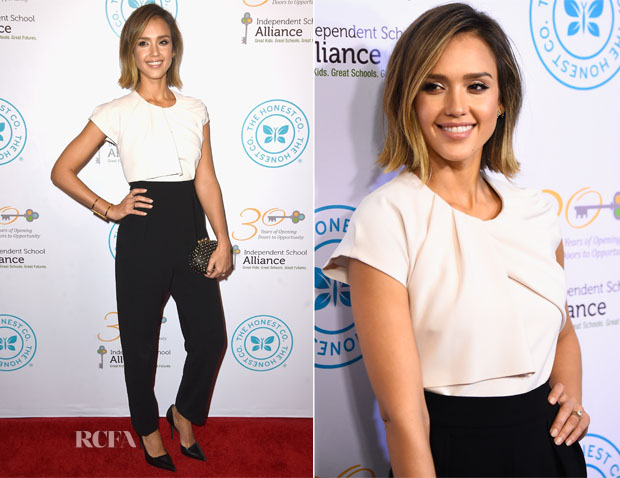 Jessica Alba In Max Mara - The Independent School Alliance for Minority Affairs Impact Awards Dinner