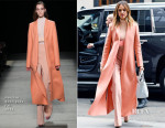 Jessica Alba In Narciso Rodriguez - Out In New York City