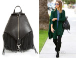 Jessica Alba's Rebecca Minkoff Julian Fringe Backpack
