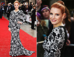 Jessica Chastain In Oscar de la Renta - 2015 Jameson Empire Awards