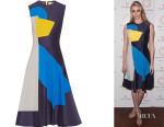 Jodie Kidd's Roksanda Contrasting Patchwork Dress