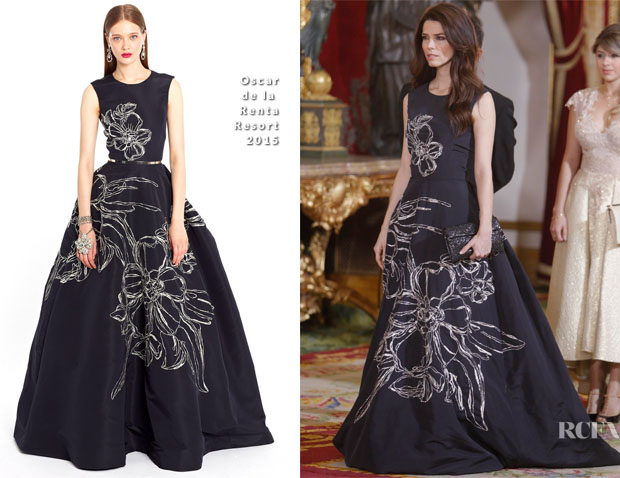 Juana Acosta In Oscar de la Renta - Gala Dinner for The Colombian President