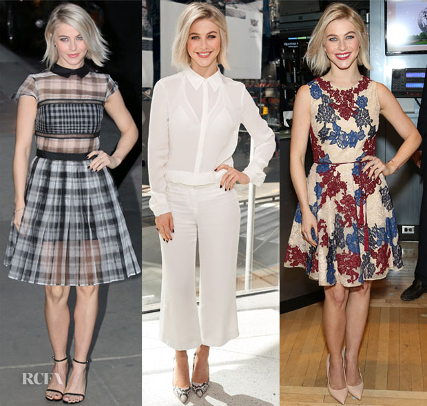 Julianne Hough In Self-Portrait, ALC & Monique Lhuillier - 'Dancing With The Stars' Promotion