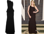 Kate Upton's Roland Mouret Chafer Wool-Crepe Gown