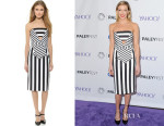 Katie Cassidy's Cushnie et Ochs Striped Neoprene Dress