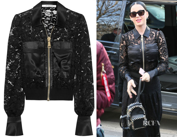 Katy Perry's Givenchy Satin & Lace Bomber Jacket